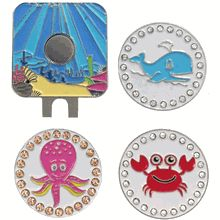 Under The Sea Pack. This pack includes a sea hatclip with your favorite ocean bling markers: whale, octopus, and crab.