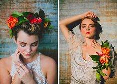Tequila Sunrise Styled Shoot, floral crown and floral cuff by Bricolage, styled by The Simplifiers | www.thesimplifiers.com