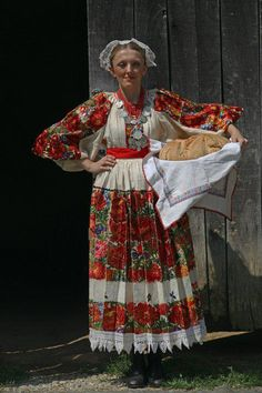 Croatian national costumes characteristic for the regions: Moslavina, Posavine, Lonjsko polje, Turopolje are characterized by poly-color floral patterns in endless combinations that reflect flourishing meadows of these regions