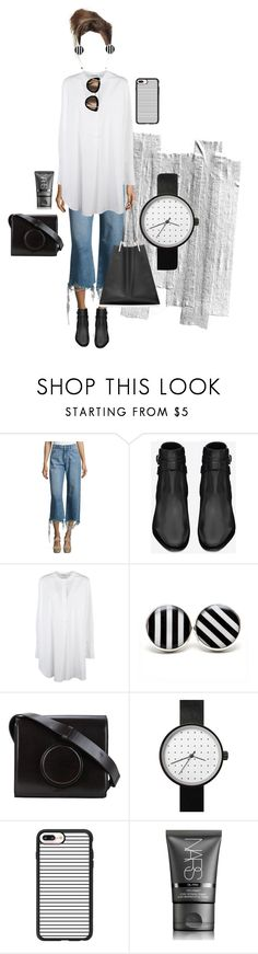 """""""Untitled #558"""" by yvsra on Polyvore featuring DL1961 Premium Denim, Yves Saint Laurent, Jil Sander, Lemaire, Casetify, NARS Cosmetics and Victoria Beckham"""