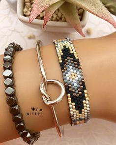 51 Best Ideas For Jewerly Desing Trends Bijoux Bead Loom Designs, Bead Loom Patterns, Peyote Patterns, Jewelry Patterns, Bracelet Patterns, Beading Patterns, Bead Jewellery, Beaded Jewelry, Love Bracelets