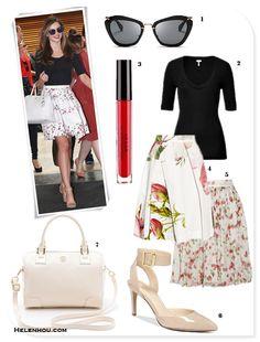 Summer Flare: Black Top & White Skirt