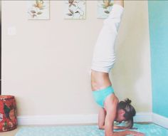 #forearmstand #yoga IG: @stayatfitmom and Facebook.com/stayatfitmom