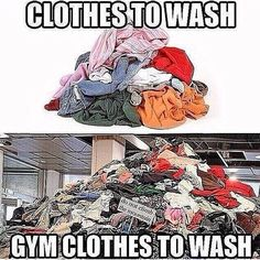 Funny memes for people who love the gym - the struggle is real when gym clothes are 90% of your wardrobe! Fitness memes and images
