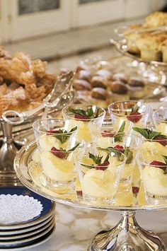 At the dessert table...
