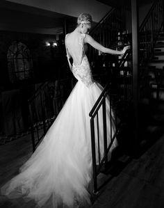 mermaid wedding dress (back)