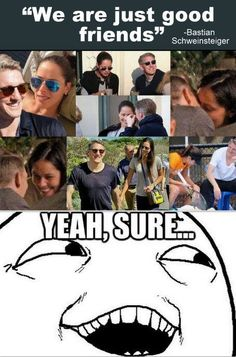 "Bastian Schweinsteiger & Ana Ivanovic  ""Just friends"""