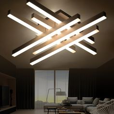 modern LED ceiling light remote controlling aluminum ceiling lighting for bedroom/living room indoor ceiling lamp fixture #Affiliate