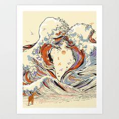 The Wave of Love Art Print by Chalermphol Harnchakkham - $22.88