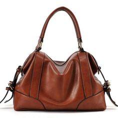 Sale 18% (39.14$) - Women PU Leather Retro Bag Women Messenger Bag Vintage Handbag