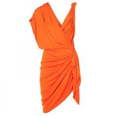 Lanvin Draped jersey cocktail dress, found on polyvore.com
