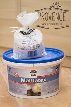 Krétafesték házilag | Chalk Paint házilag  1 rész hagyományos modellgipsz ( fél kg 150,-Ft :) ) • 2 rész beltéri, latex falfesték ( 5 liter kb. 5.000,-Ft. Fontos, hogy latex legyen!) • 1 rész víz