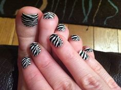 Nailease Zebra nails ~ Maybe on my toe nails but def not on my finger nails....