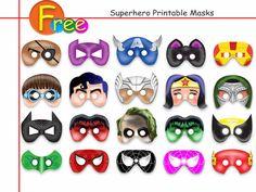 Free Printable MasksAmazing Superhero by AmazingPartyShop on Etsy
