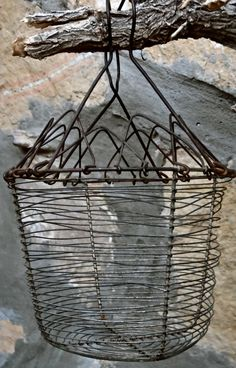Old French wire egg basket Paris flea market by parisiancowgirl