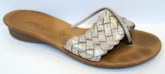 Paul Green 'Lulu' Tuffle Metallic Leather Thong Sandal Size 6/US 8.5 #PaulGreen #FlipFlops