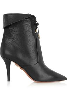 Aquazzura Tribeca textured-leather ankle boots  | NET-A-PORTER