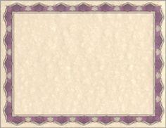 Blue Royalty Border 8-1//2 x 11 Parchment Paper Certificates 50//Pack