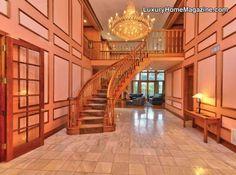 Avila Brick Estate #luxury #homes #stairs #staircase #entry #home #house #entrance #interior #design #decor