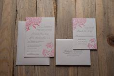 pink peony, spring wedding invitation, flower wedding invitation, summer wedding invitation, garden wedding invitation