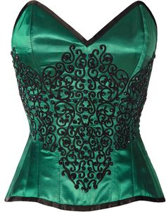 The Violet Vixen - Emerald Gemstone Enchantress, $131.59 (http://thevioletvixen.com/corsets/emerald-gemstone-enchantress/)  thevioletvixen.co... An Emerald green corset for the lady of mystery? Why yes, this sexy little number has beaded embroidery and has a hidden side closure for added elegance. Fun for burlesque, formal wear, proms or dances.