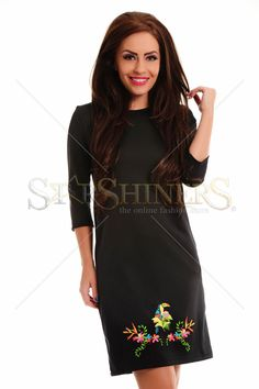 StarShinerS Brodata Safari Black Dress