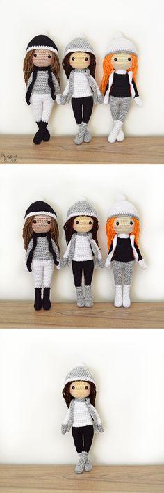 Baby Knitting Patterns Hat Crochet Pattern - Sarah the Winter Doll - Amigurumi Crochet Diy, Crochet Amigurumi, Crochet Motifs, Amigurumi Patterns, Amigurumi Doll, Crochet Crafts, Crochet Dolls, Crochet Projects, Diy Projects