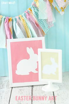 Easter Bunny canvas Art OR printable!!! | Crafting{E}