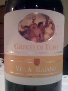 Villa Raiano Greco di Tufo. Love GdT, and this is a great one