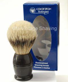 Dovo Silvertip Shaving Brush - Ebony Wood Handle!  #ShavingRazorsandBrushesCases Badger Shaving Brush, Shaving Razor, Wet Shaving, Shaving Cream, Safety Razor, Soap, Handle, Vintage, Vintage Comics
