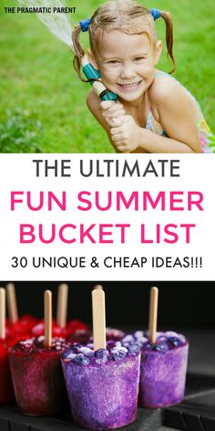 Are you ready for a great Summer? This is the Ultimate Summer Bucket List with 30 fun and unique ideas which are cheap and some of them free! Fill your Summer days with long-lasting fun memories and adventures with your tribe. Don't forget to download your printable Summer Bucket List of ideas to write your must-do adventures for the Summer! #ultimatesummerbucketlist #summerbucketlist #activitiestodointhesummer #summerfun #summeractivities #thingstodowithkids