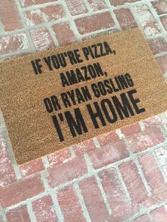 NEW If You're Pizza Amazon or Ryan Gosling I'M HOME by ShopJosieB