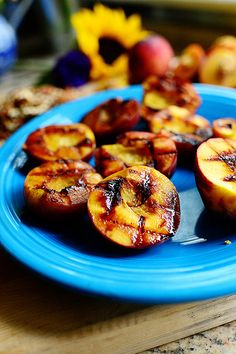 Summertime...Three different recipes using Grilled Peaches & Pecans. Perfect for summer!