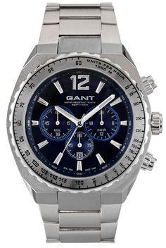 Herre ur i stål - Gant Wingham Blue Metal W70143