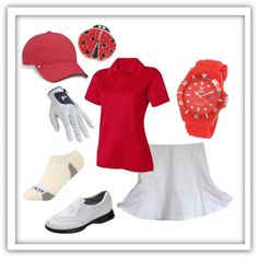 A fashion look from April 2012 featuring Fila tops, KENTWOOL socks and Fila hats. Browse and shop related looks. Mens Golf Outfit, Golf Attire, Girls Golf, Ladies Golf, Women Golf, Golf Fashion, Sport Fashion, Ladies Fashion, Fashion Men