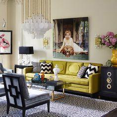 Jonathan Adler   Vienna Large Chandelier Living Room Decor Table, Art Deco  Living Room,