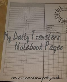 Free Printable Planner Pages for your Travelers Notebook ~ OnceUponADragonfly.net