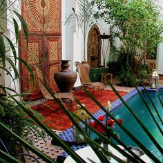 Beautiful Moroccan garden.