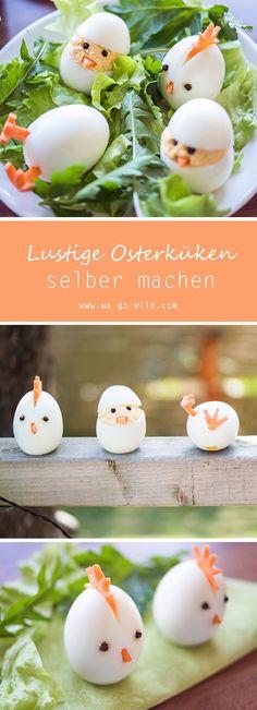 Brauchst du noch schnelle Ideen für Ostern? Diese gesunden Snacks für Ostern kommen sicher toll an. Die kleinen Osterküken sind einfach zu machen und sehr lecker, außerdem richtig süß oder? Für mehr Oster Rezepte geh einfach auf unsere Website. #Rezepte #Ostern