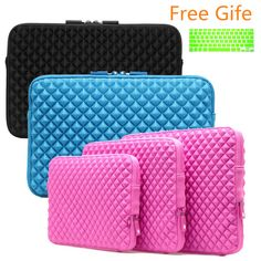 awesome 2015 Fashion Waterproof Laptop Sleeve 11 12 13 14 15 Laptop Bag+Free Keyboard Cover Neoprene Notebook Case For Macbook Air Pro