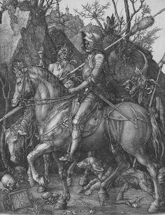 El caballero, la muerte y el diablo (A. Durero, 1513)