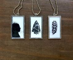 Check out Tribal Trio:  Tribal art pendant set / #tribal jewelry set / #arrow necklace / #feather necklace / #native american #jewelry on bluetribe