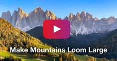 Simple Trick To Make Mountains Loom Large Over Your Subject [Video Tutorial] Iphone Hacks, Iphone Photography, Landscape Photos, Loom, Mountains, Simple, Travel, Watch, Tips