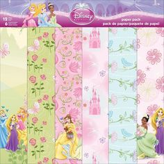 SANDYLION-Disney Paper Pack Sheets. Perfect for scrapbooking! This package contains twelve single-sided sheets of paper in six different designs (two of each design). Comes in a variety of designs. Ea