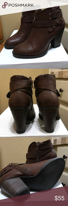 XOXO Booties  Brown Size 6 XOXO Booties  Great nice looking Booties worn a handful of times. XOXO Shoes Ankle Boots & Booties