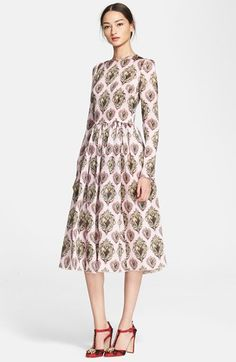 Dolce&Gabbana Sacred Heart Print Full Skirt Dress available at #Nordstrom