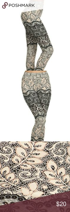Chic Whimsical Print Leggings *COMING SOON Super soft peach skin fabric, multi-color printed knit leggings with elastic mid-rise waist band.  One size fits (2-12/14) best.   Whimsical print with cream, grey, black, and blush design.   COMING SOON LIKE OR COMMENT FOR NOTIFICATIONS. boutique Pants Leggings
