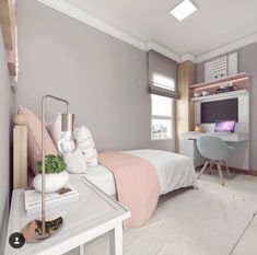 Girls Bedroom Ideas 8 Year Old Small ; Girls Bedroom Ideas 8 Year Old Cute Bedroom Ideas, Girl Bedroom Designs, Room Ideas Bedroom, Small Room Bedroom, Trendy Bedroom, Bedroom Ideas For Small Rooms For Girls, Bedroom Ideas For Teen Girls Small, Ikea Bedroom, Master Bedroom