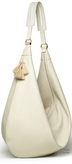 The Row ~ Ivory Leather Cross-body Bag