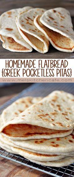 Flatbread is yummy. Soft, fluffy homemade flatbread is even yummier!